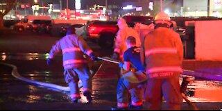 Apartment fire in Las Vegas
