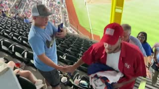 """Man Unfurls Massive """"Trump Won"""" Sign at Baseball Game and Shouts """"Our Election Was Stolen!"""""""