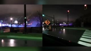 Niagara Falls At Night (split screen)