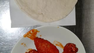 flower tortilla with chicken wings my dinner