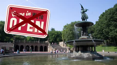 Ghost Town NYC – Central Park Freedom Rally at Bethesda Fountain