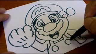 How to turn words MARIO into a Cartoon - Doodle art on paper
