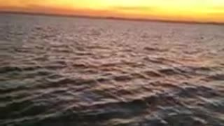 The sunset in the Nile is amazing
