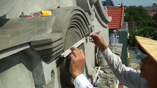 Great Creativity - Beautiful Windows from sand and cement