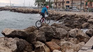 Bicycle and its rider