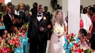 Groom Sings To Bride As She Walks Down The Aisle