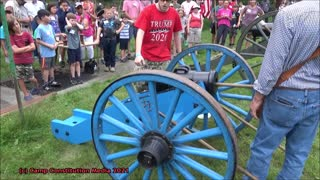 Cannon Fire Demonstration at Camp Constitution 2021