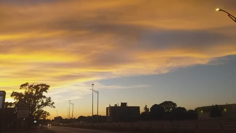 Beautiful brown sky after sunset