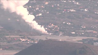 Lava engulfs churches, houses in La Palma