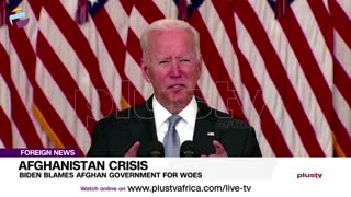 Biden Blames Afghan Government For Woes