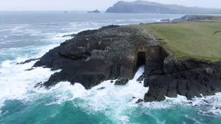 The beautiful calm waves sea