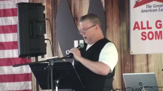 Pastor Jack speaking at Veterans Day event