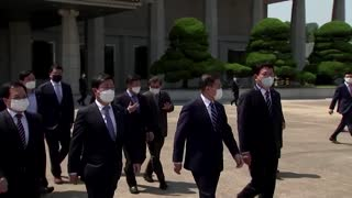 S. Korea's Moon leaves for Biden Summit