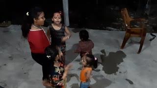 Children having fun on free time