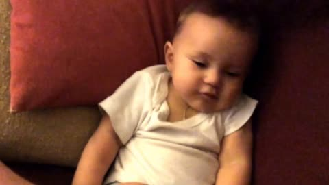 Cute Baby Falling Asleep