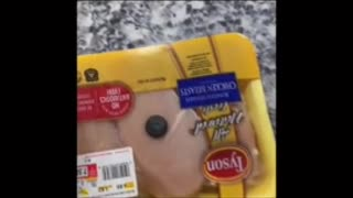Magnet sticking to grocery store meat