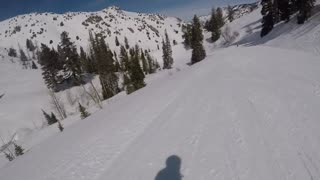 Snowboarding at Powder Mountain Utah 2017