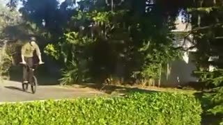 Guy in green crashes face plant
