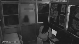 A ghost 👻 got caught in CCTV camera while working in office