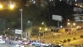 Protesta en el área metropolitana de Bucaramanga