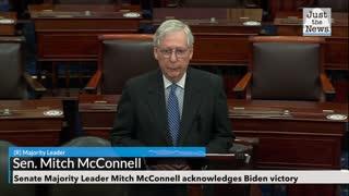Senate Majority Leader Mitch McConnell acknowledges Biden victory