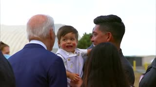 Biden Scares a Baby in Colorado When He Leans in For A Sniff and Kiss