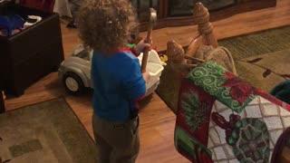 Kid Breaks TV With Hammer but Blames His Sister
