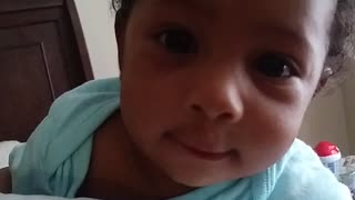 Adorable Baby Says Wassup