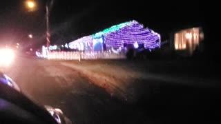 Beautiful Christmas light display in Rhode Island