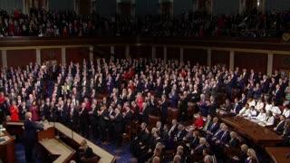 Trump regala a Guaidó un minuto de gloria durante el Estado de la Unión
