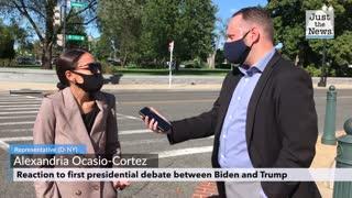 AOC gives her take on last night's debate between Trump and Biden