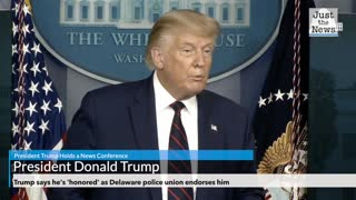 Trump says he's 'honored' as Delaware police union endorses him