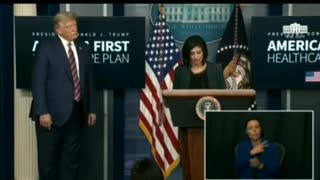 President Trump Walks Off Without Answering Mockingbird Media WHINES