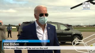 With less than three weeks to go, Obama missing from Biden campaign trail
