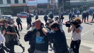 Multiple people being arrested in Melbourne