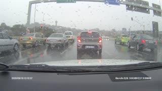 Man Hits Car Window During Traffic Stop