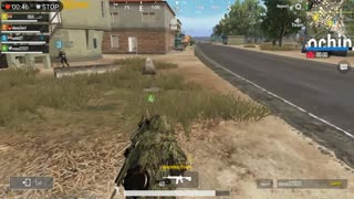 Sniper Action Show With Tree Custom In Pubg Mobile Game