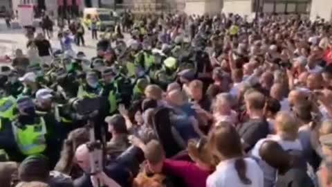 anti Coronavirus lockdown protest in central London 1