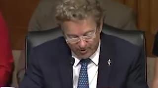Rand Paul SAVAGES Senate Witness Pushing Mindless Vaccine Talking Points
