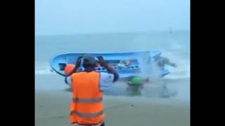 Beach boat accident