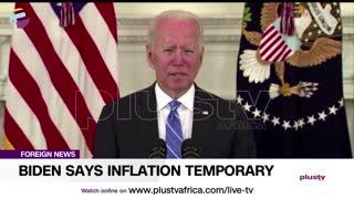 Biden Says Inflation Temporary