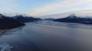 Breathtaking flight over Chickaloon Bay, Anchorage, Alaska