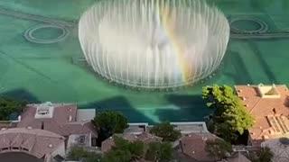 Amazing water fall in Dubai