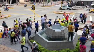 Lunes agitado en Bucaramanga: protestas, trancones y aglomeraciones en plena cuarentena