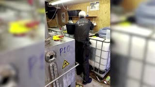 Europol releases raid footage after global crime sting