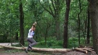 Broken Branch Can't Stop Back Flip