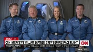 William Shatner discusses his upcoming flight on Jeff Bezos' Blue Origin