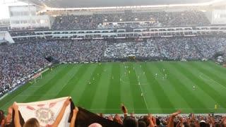 Corinthians fans. at itaquera Corinthians campeao stadium