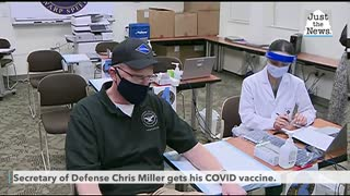 'That didn't hurt at all!' Acting Defense Secretary Miller is vaccinated against COVID-19