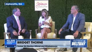 Bridget Thorne speaks about what she witnessed at the Fulton County, GA election